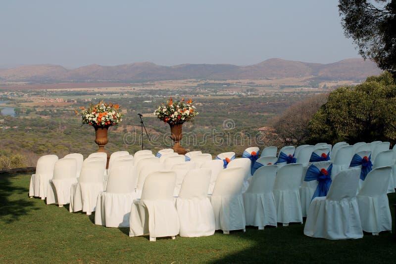 Outdoor wedding venue. In summer royalty free stock photo