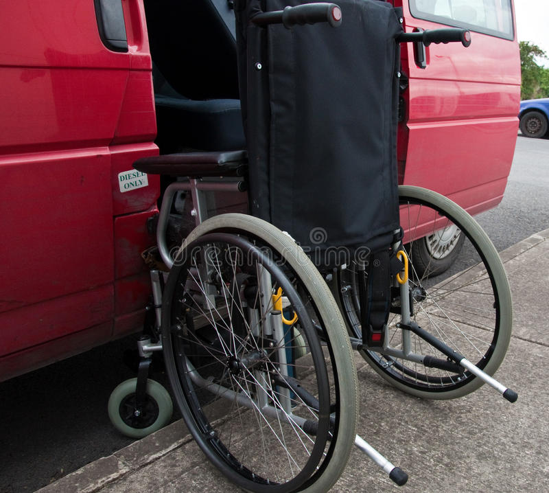 Outdoor wheelchair access to transport patient royalty free stock photo