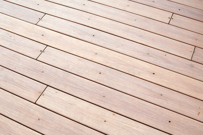 Outdoor wooden floor royalty free stock photo
