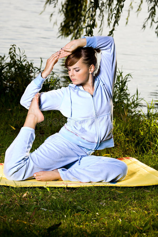 Download Outdoor yoga stock photo. Image of strength, fitness - 21649520