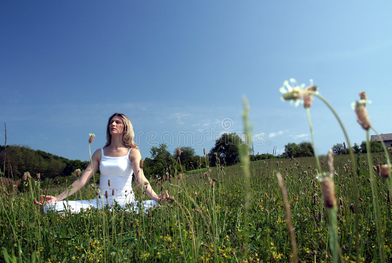 Download Outdoor yoga stock photo. Image of exercise, woman, healthy - 2315224