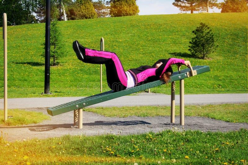 Outdoors ćwiczenie zdjęcie royalty free