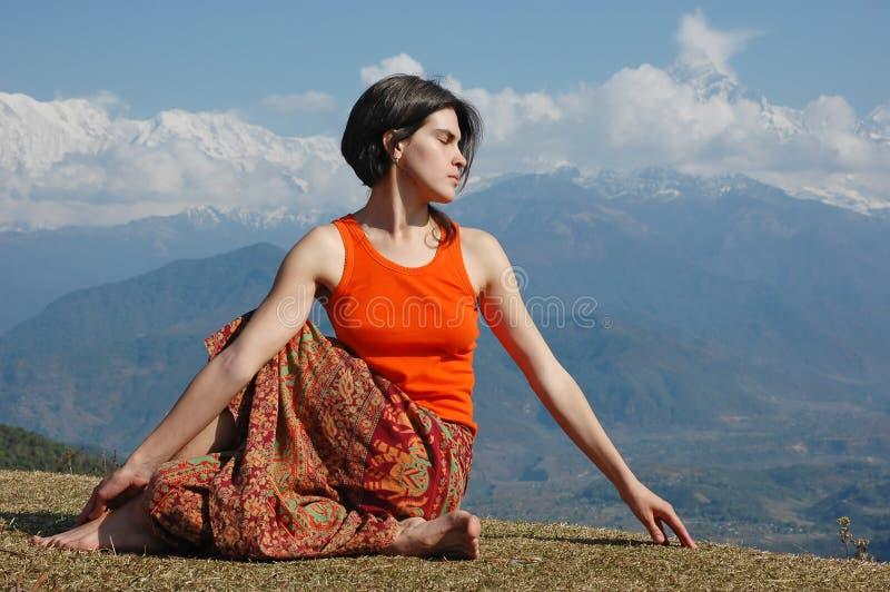 outdoors йога стоковые изображения