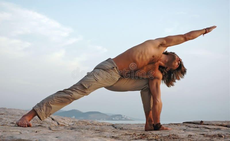 outdoors йога стоковое изображение rf