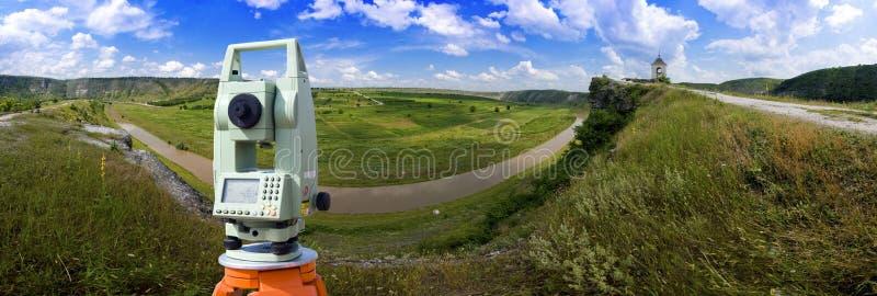 outdoors теодолит обзора стоковое фото
