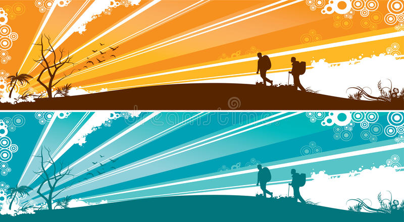 Download Outdoors banner stock vector. Image of wallpaper, backdrop - 11674345