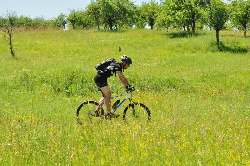 Outdoors Bicyclist Royalty Free Stock Image