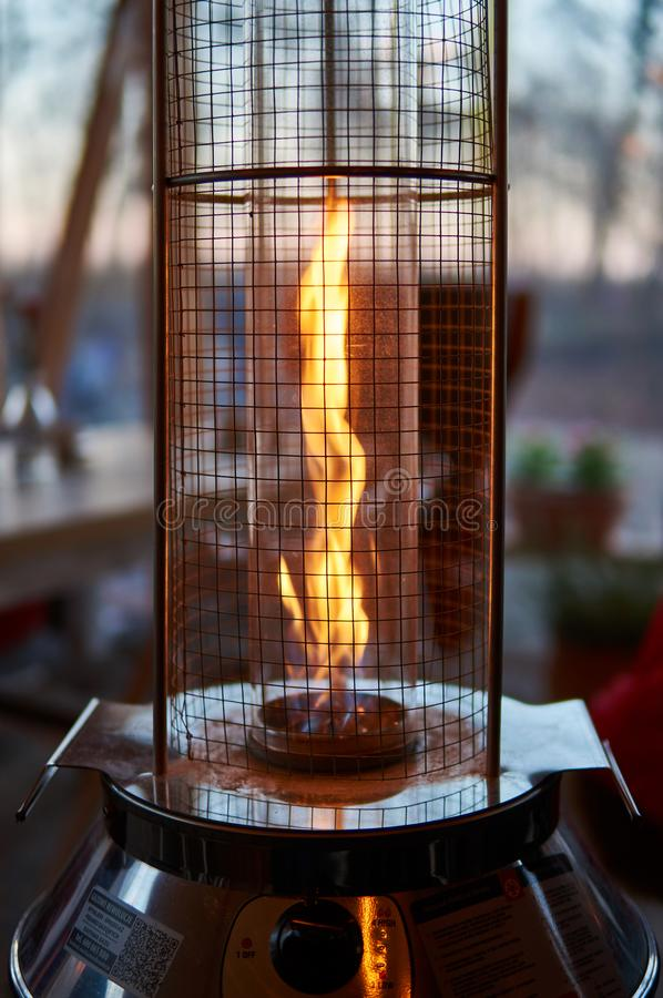 Outdoors gas heater stock photos
