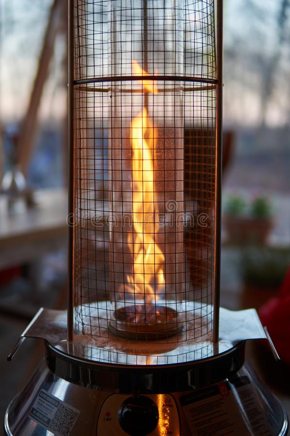 Outdoors gas heater royalty free stock photography