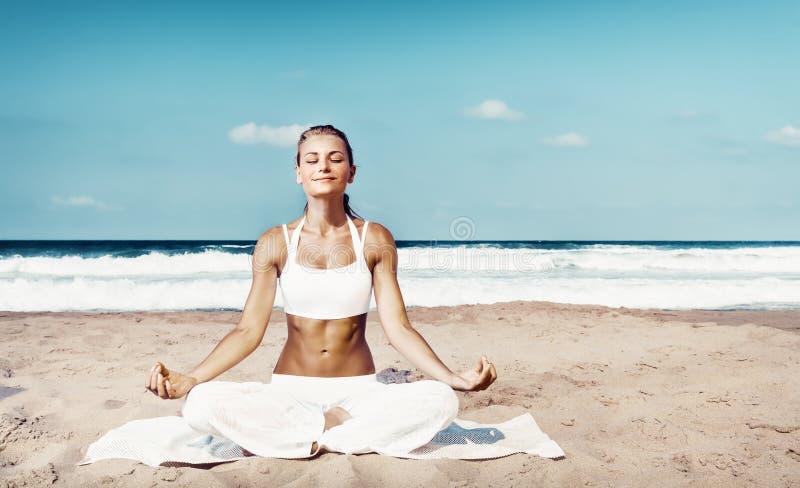 Outdoors medytacja obraz stock