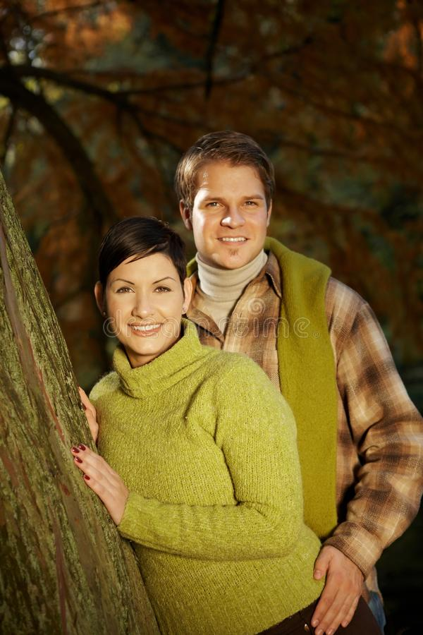 Outdoors Portrait Of Happy Couple Royalty Free Stock Photos
