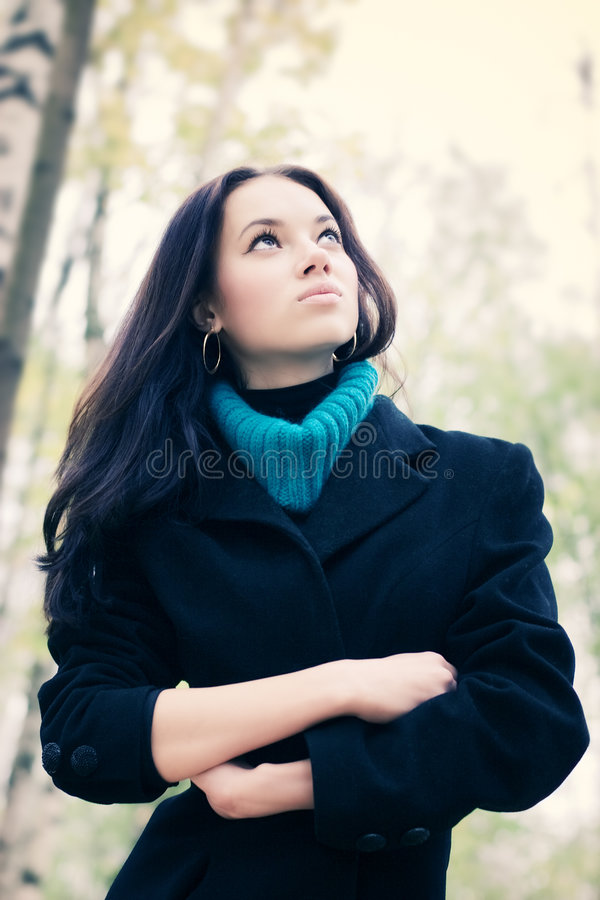 outdoors portrait woman young στοκ εικόνες