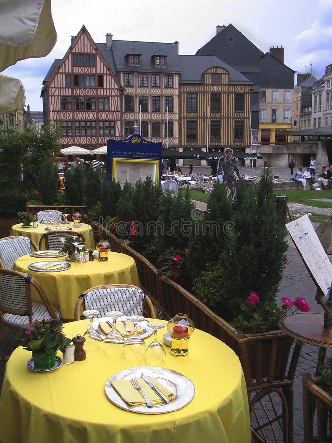 Download Outdoors restaurant stock image. Image of served, sidewalk - 952703