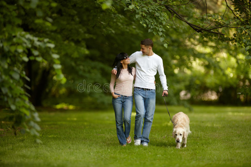 Outdoors together royalty free stock photo