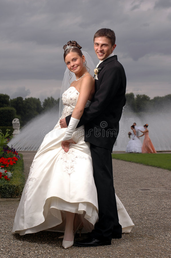 Outdor de deux weddins image libre de droits