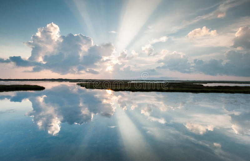 Outer Banks OBX Cape Hatteras National Seashore Pamlico Sound Light Ray Reflections