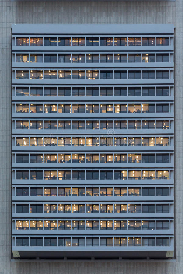 Outer Cropped View of an Office Building. A cropped facade shot of an office building royalty free stock photography
