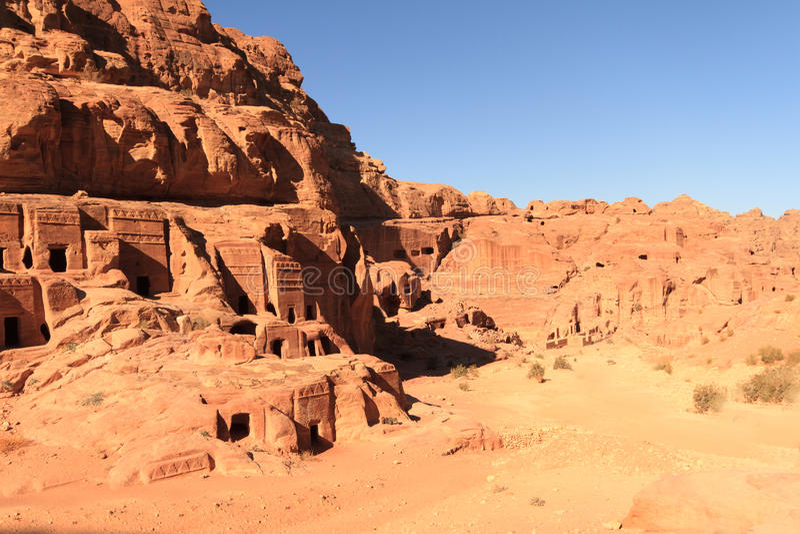 The Outer Siq. In Petra, Jordan stock photo