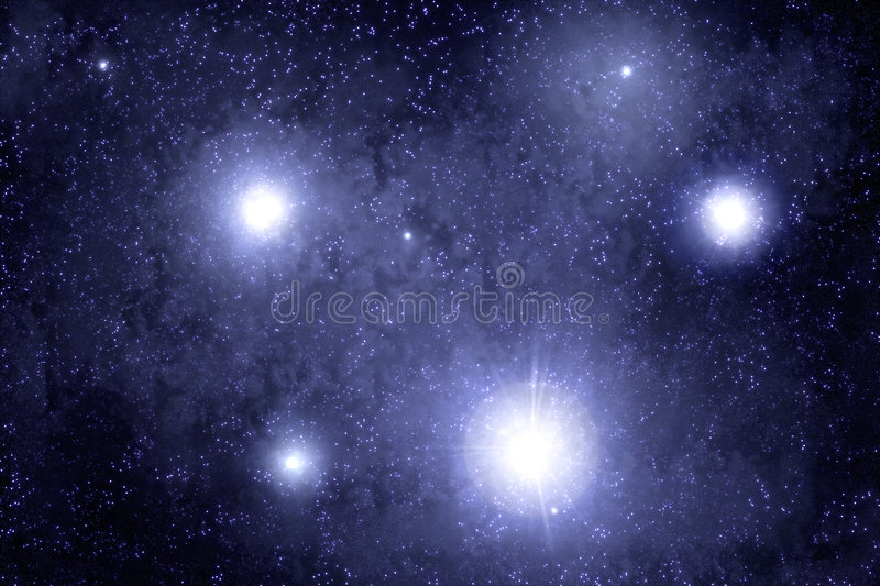 Outer space. With blue tint. Sciencefiction illustration royalty free stock image