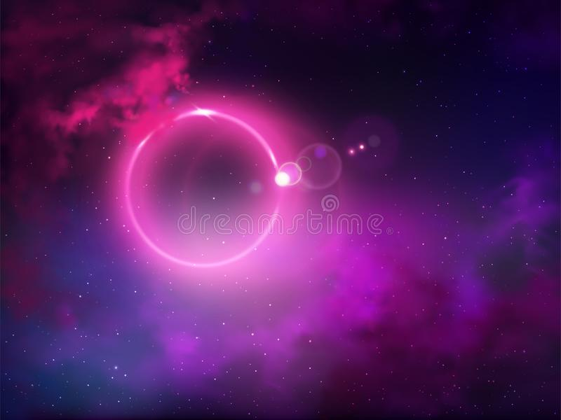Outer space anomaly abstract vector background royalty free illustration