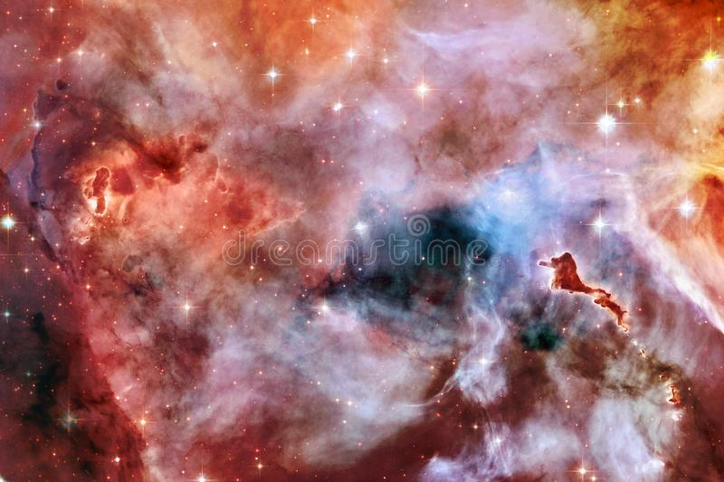 Outer space art. Nebulas, galaxies and bright stars in beautiful composition. Elements of this image furnished by NASA vector illustration