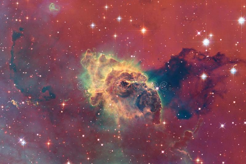 Outer space art. Nebulas, galaxies and bright stars in beautiful composition. Elements of this image furnished by NASA stock illustration