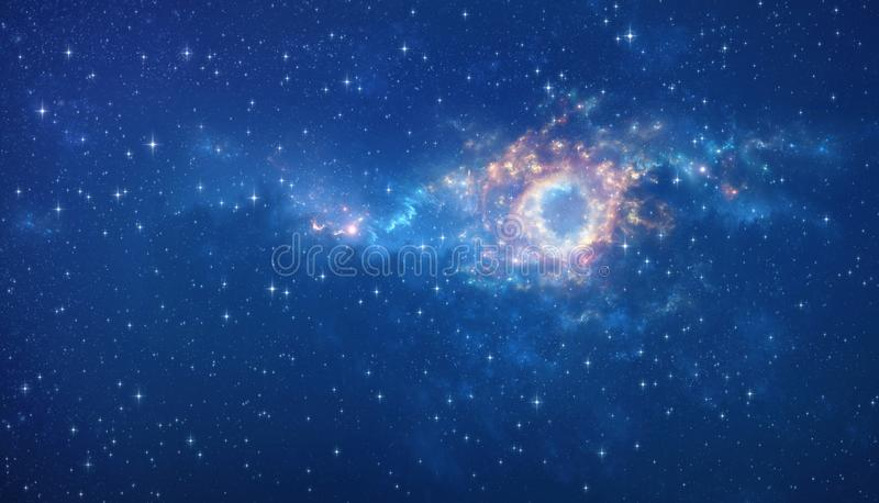 Outer space background stock illustration