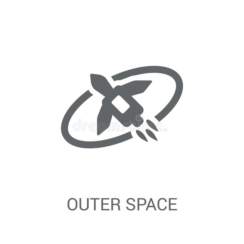 Outer space icon. Trendy Outer space logo concept on white background from Artificial Intelligence collection stock illustration