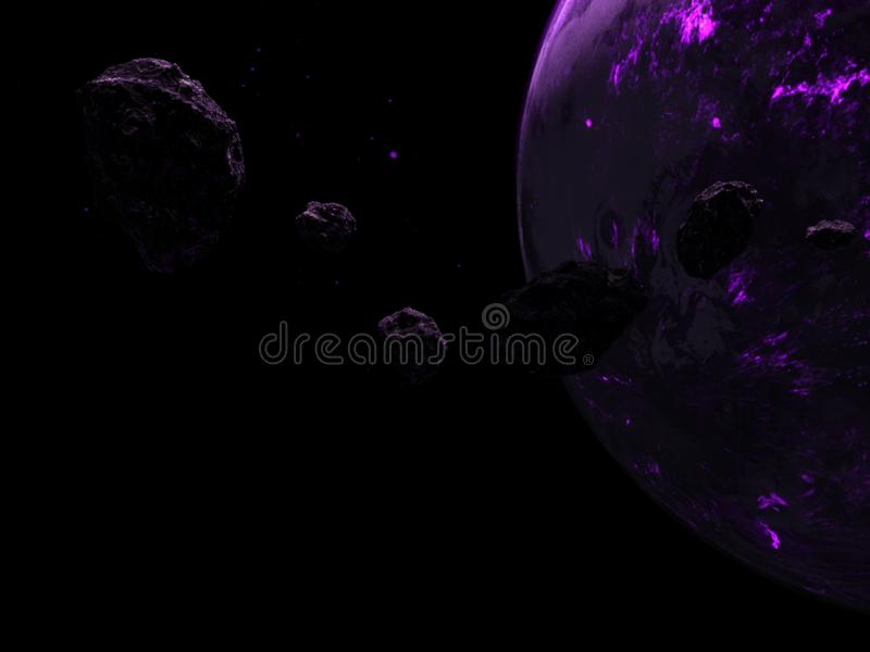 Outer Space Planet, Background, Purple, Cosmos stock illustration