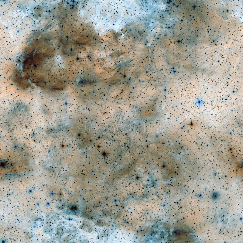 Outer space seamless pattern. Blue abstract royalty free stock photography