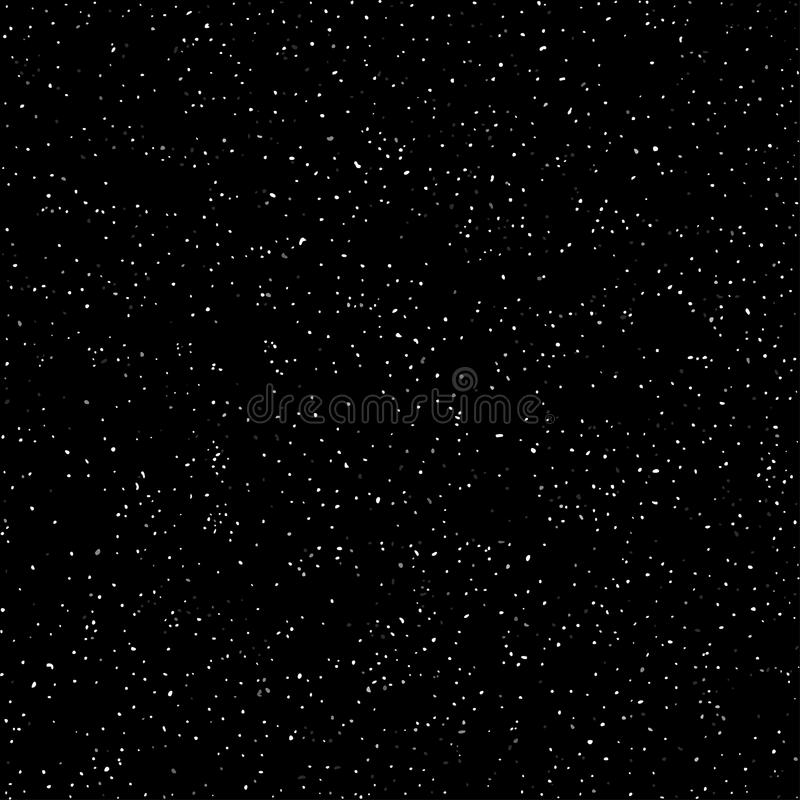 Outer space, starry dark sky, seamless pattern, black and white texture. Chaotic point spraying. Vector. Outer space, starry dark sky, seamless pattern, black vector illustration