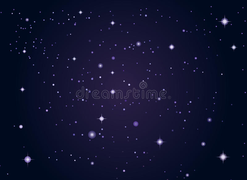 Outer space stars background royalty free illustration