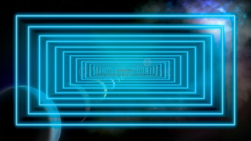Outer space and time travel concept image. Outer space, time travel and speed of light concept image stock photo