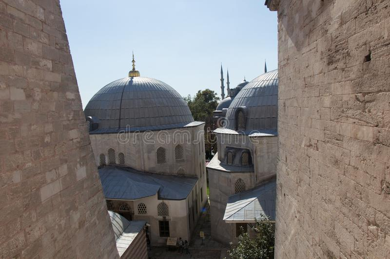 Outer view of dome in Ottoman architecture. In, Istanbul, Turkey stock image