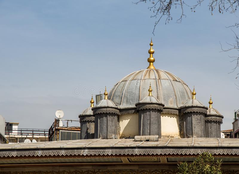 Outer view of dome in Ottoman architecture. In, Istanbul, Turkey royalty free stock photos