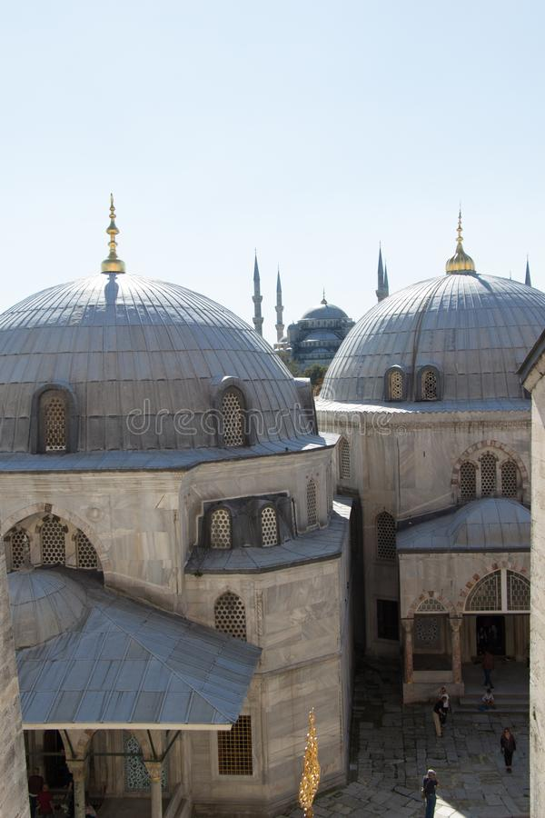 Outer view of dome in Ottoman architecture. In, Istanbul, Turkey royalty free stock photo