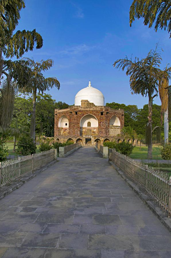 Outer view of Hazira Maqbara, with tombs of Qutb-ud-din Muhammad Khan, tutor of Salim, son and successor of Akbar, Vadodara Barod. Outer view of Hazira Maqbara royalty free stock images