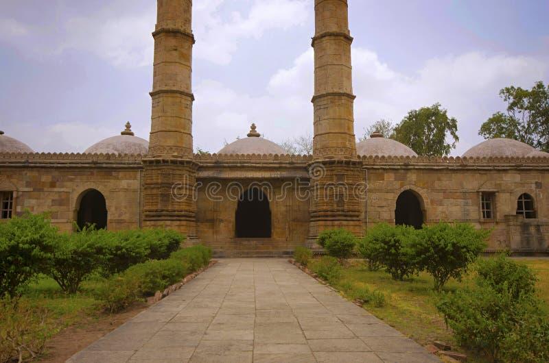 Outer view of Sahar ki masjid. royalty free stock photo