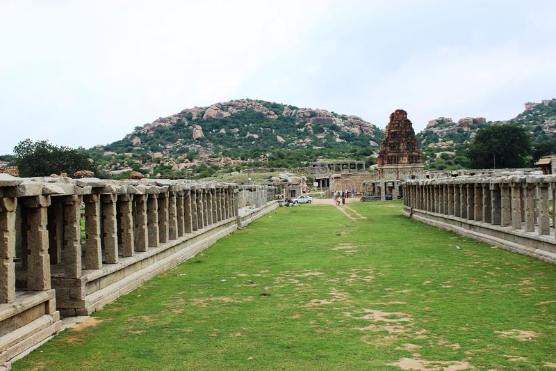Hampi vittala temple. The outer view of vittala temple at hampi royalty free stock photography