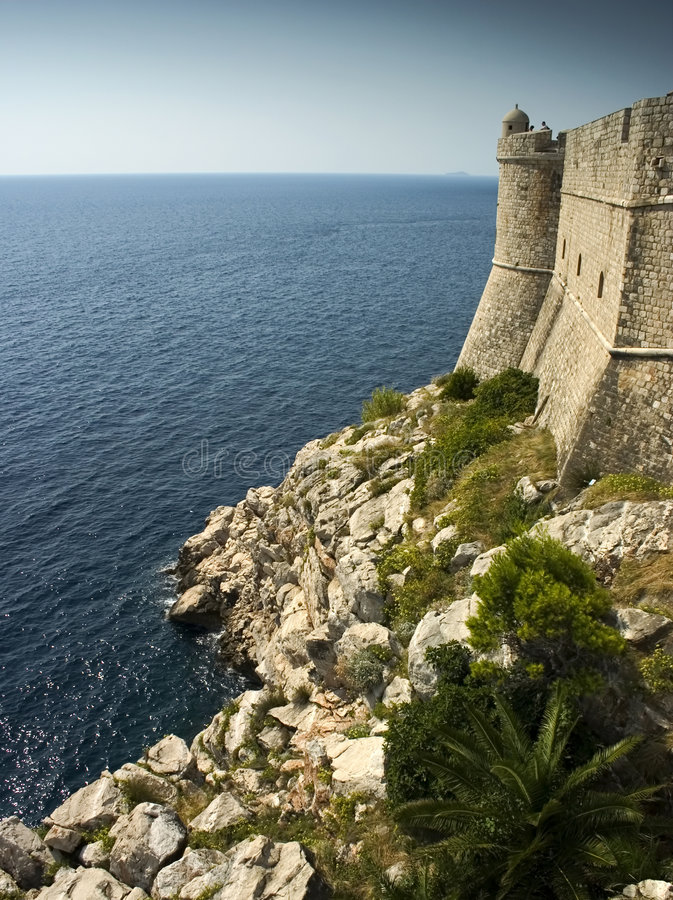Outer wall, Dubrovnik royalty free stock image