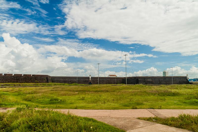 Outer walls of St. Joseph fortress in Macapa, Braz. Il royalty free stock image