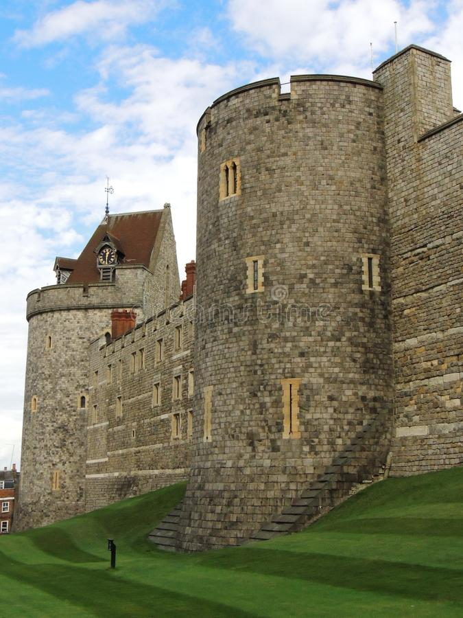 Windsor Castle. Outer Walls in the town, Windsor Castle England UK royalty free stock images