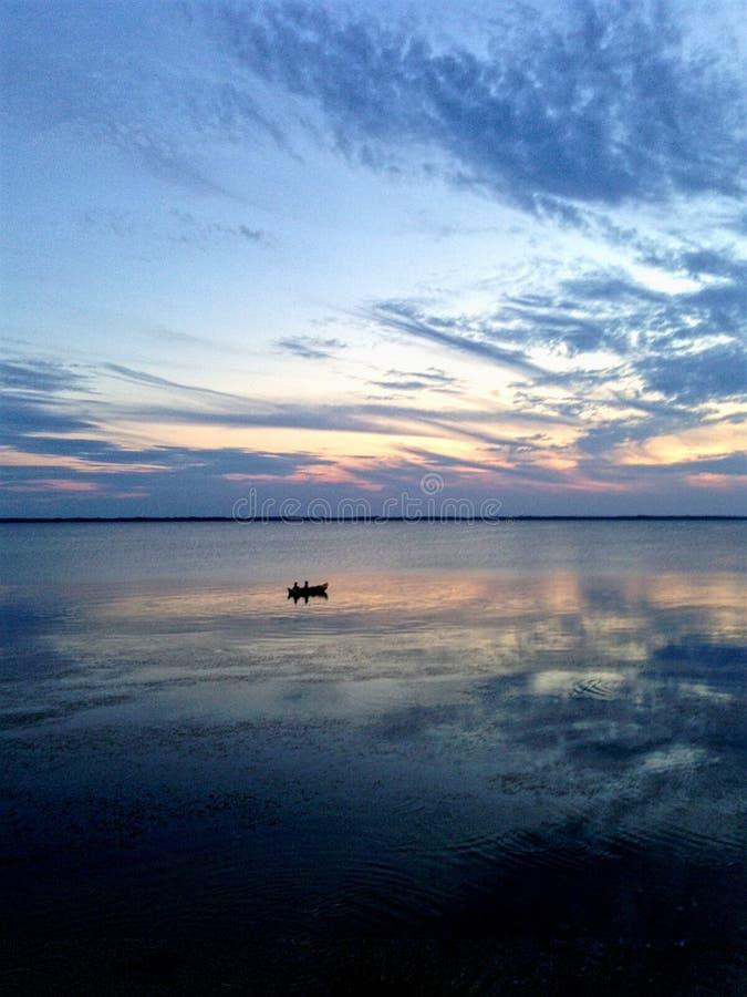 Outerbanks-Sonnenuntergang stockbilder