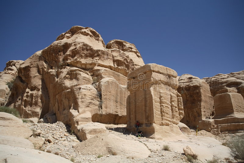 Download Outerworldly Scene Of Petra, Jordan Royalty Free Stock Photography - Image: 1414267