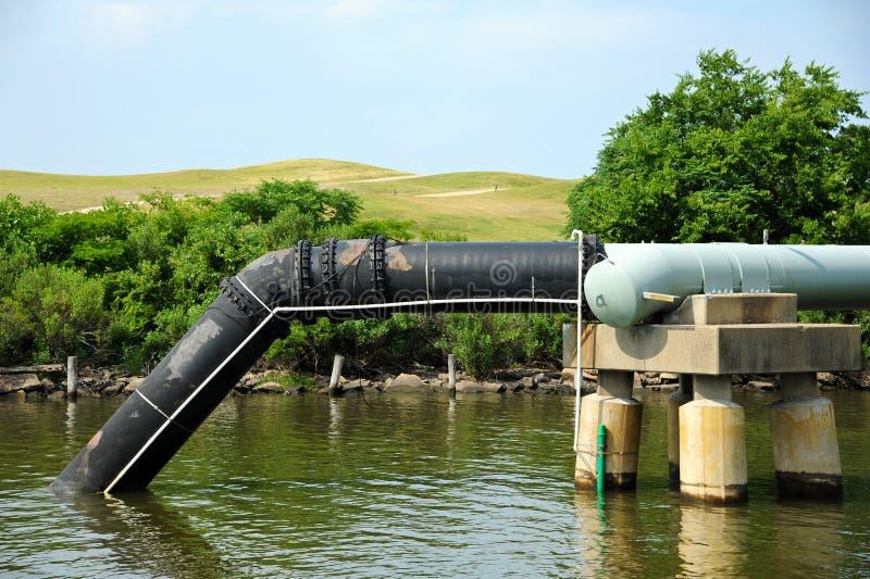 Outfall das águas residuais foto de stock royalty free