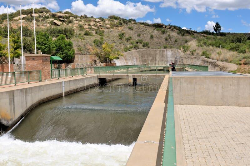 Outfall de Ash River perto de Clarens, África do Sul foto de stock royalty free