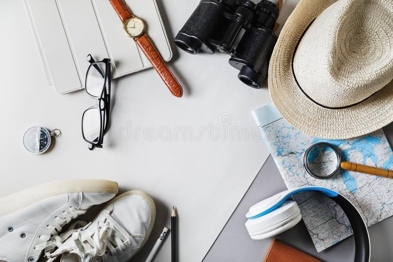 Outfit of traveler royalty free stock images