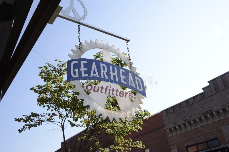 Outfitters Gearhead, Jonesboro, Αρκάνσας στοκ εικόνα με δικαίωμα ελεύθερης χρήσης