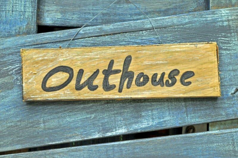 outhouse fotografia stock