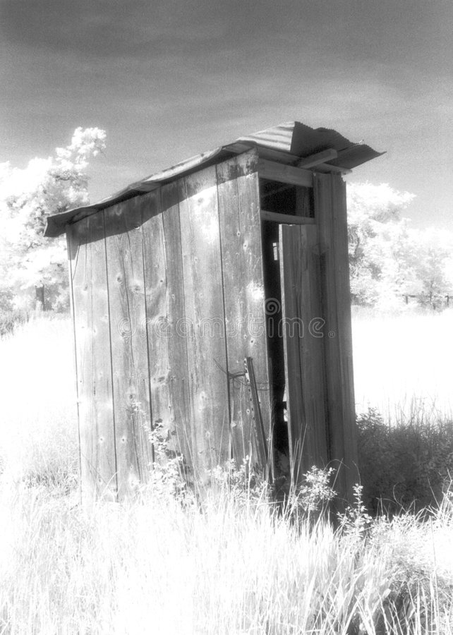 old farm Outhouse royalty free stock image